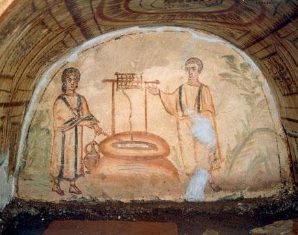 Samaritan Woman Roman Caracombs